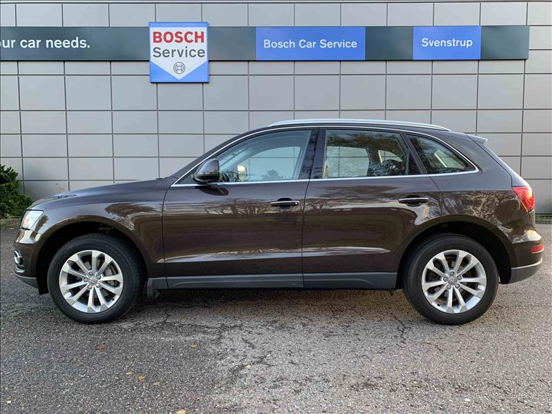 privat leasing af bil -Audi-Q5-2,0-TDi-190-Quattro-S-tr.-Brun