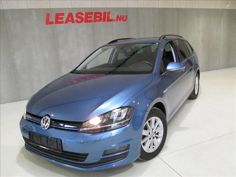 privat leasing af bil -VW-Golf-VII-1.6-TDI-Variant-Trendline-110--Blå