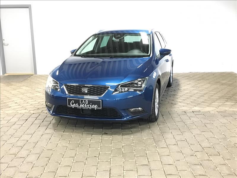 privat leasing af bil -Seat-Leon-1.6-TDI-ST-Style-DSG-110-Blå