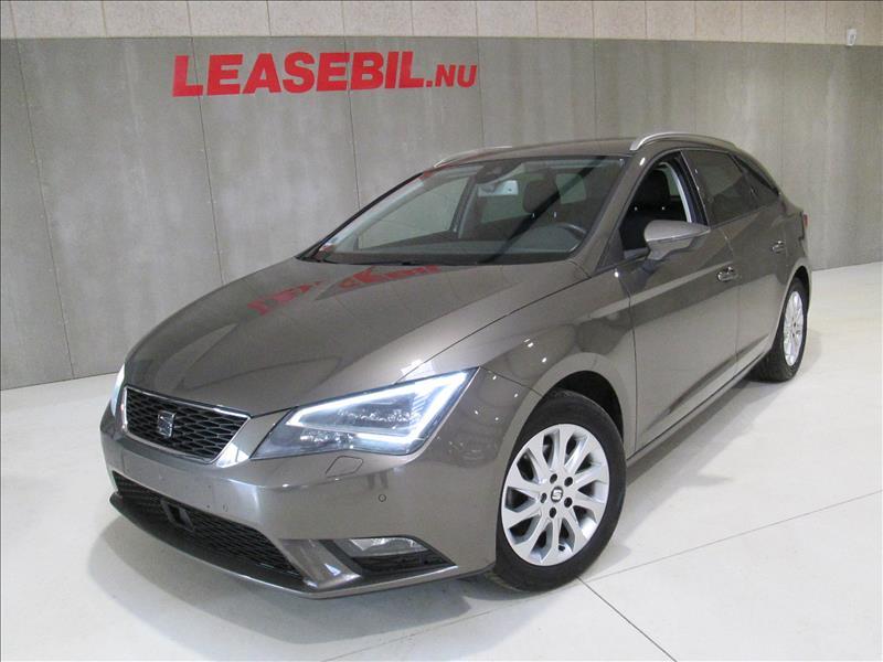 privat leasing af bil -Seat-Leon-1.6-TDI-ST-Style-DSG-110-Brun
