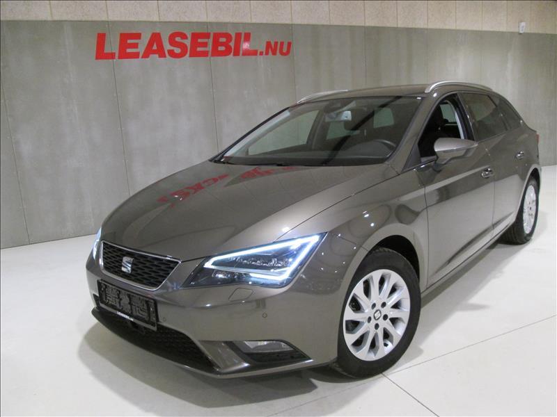 lease bil nu privat? - Seat-Leon-1.6-TDI-brun-meta-km-87699