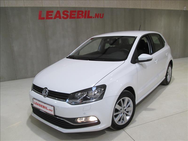 privat leasing af bil -VW-Polo-1.4-TDI-BMT-5d-90hk-Comfortline-Hvid