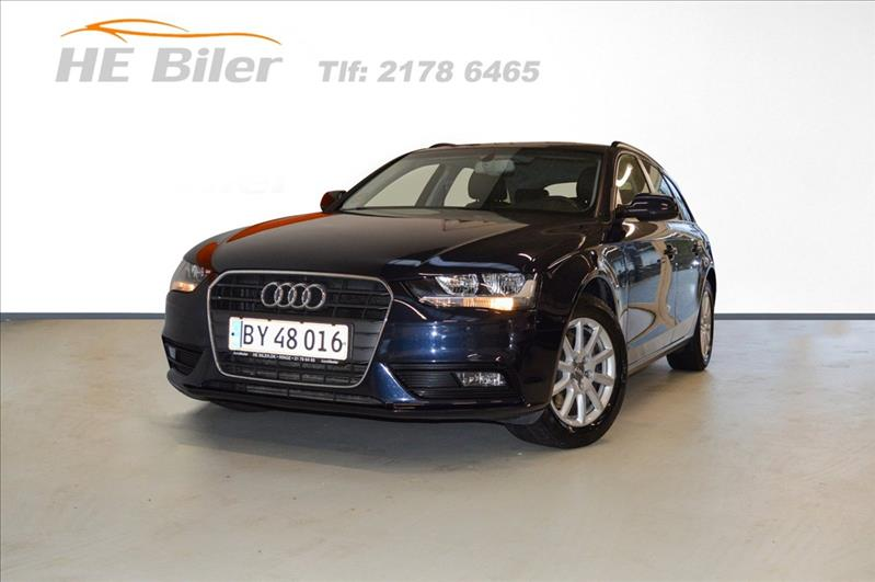 privat leasing af bil -Audi-A4-2,0-TDI-Avant-150-HK-Blå