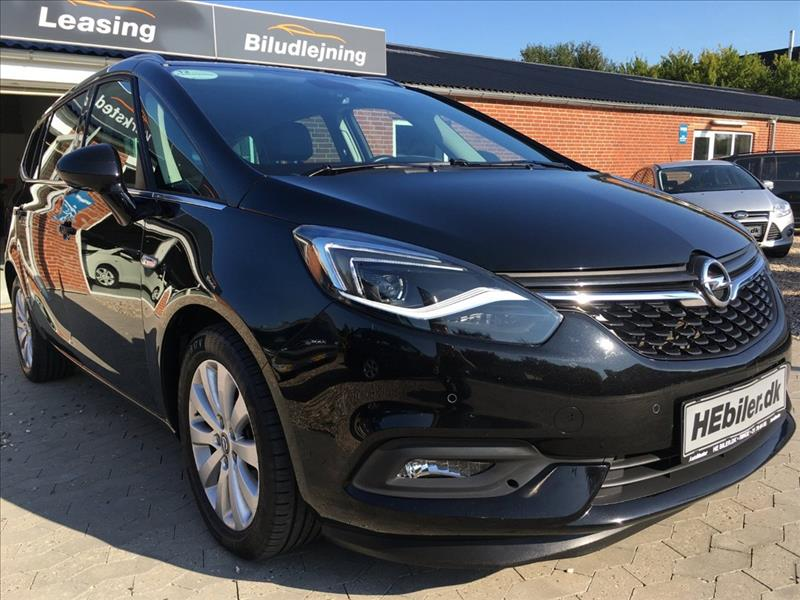 privat leasing af bil -Opel-Zafira-1,4T-140HK-7-Personers-Sort