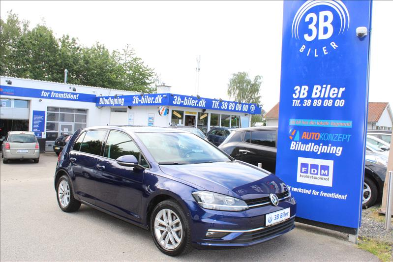 privat leasing af bil -VW-Golf-VII-1.6-TDI-BMT-Comfortline-DSG-115-Mørkblå