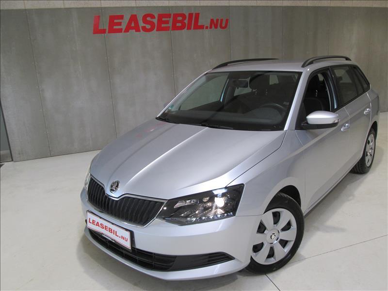 privat leasing af bil -Skoda-Fabia-1.4-TDI-Combi-Ambition-90-Sølvmetal