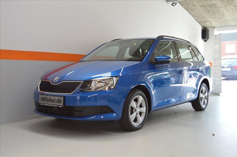 leasebil.nu erhvervsleasing - Skoda-Fabia-blå-metal-km-43000